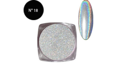 POUDRE CHROME HOLOGRAMME NKF N°18
